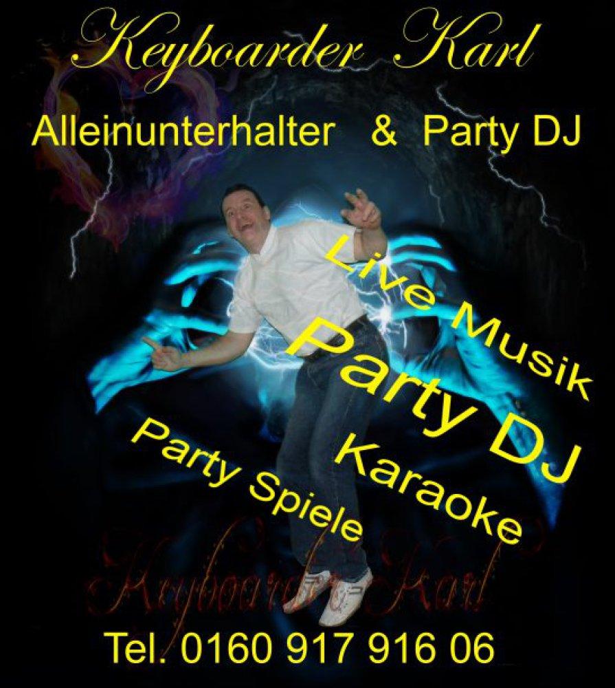 Alleinunterhalter NRW und Party Deejay Nordrhein Westfalen mit dem Künstler Namen Keyboarder Karl
