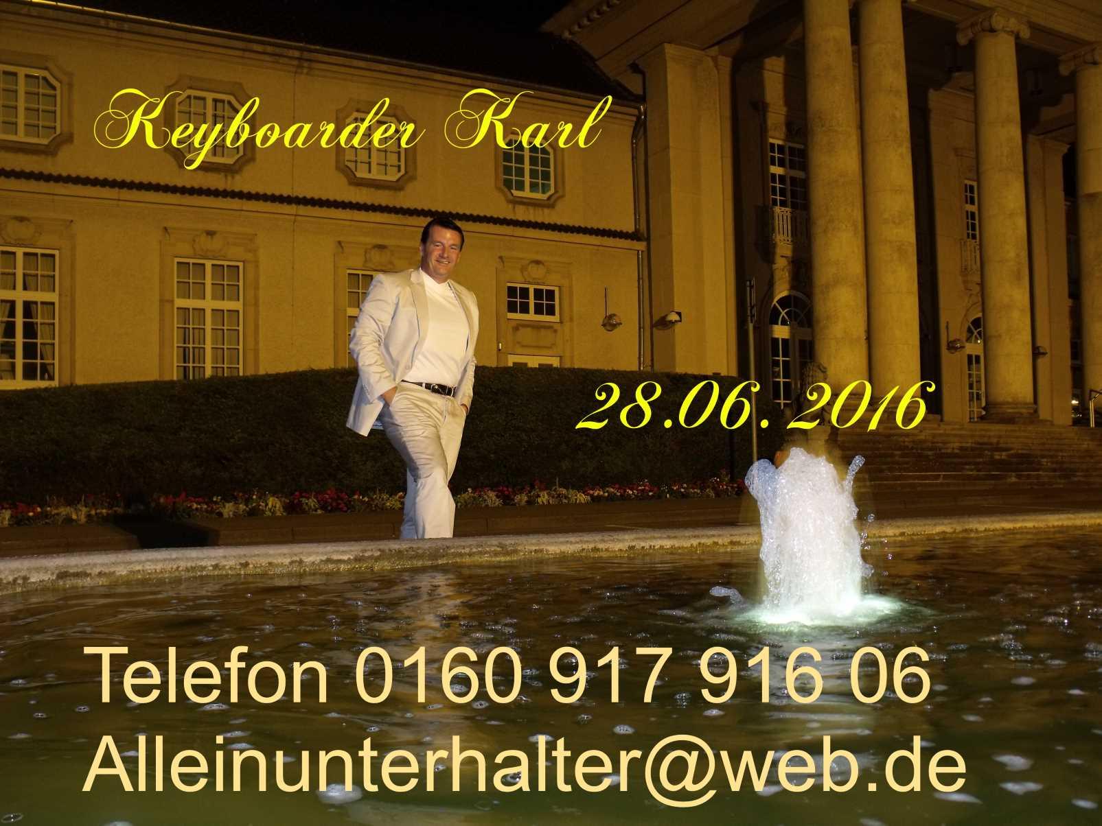 Hochzeit Geburtstag Stadtfest und Betriebs Fest Veranstalter vertrauen Keyboarder Karl