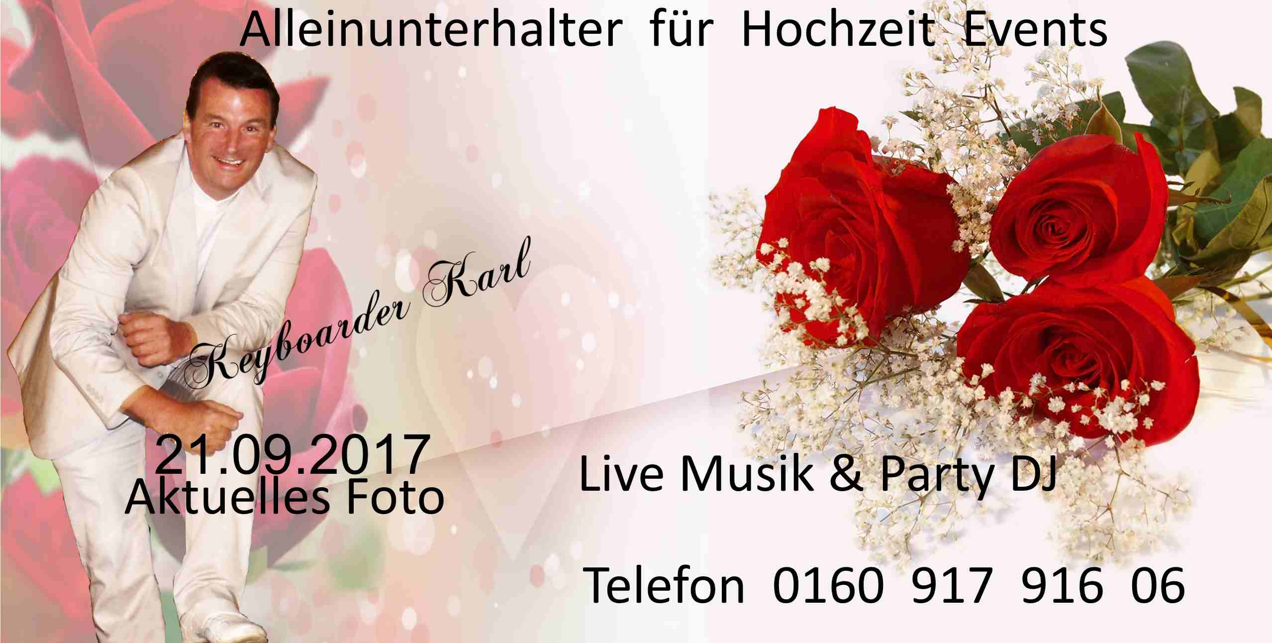 Alleinunterhalter Mönchengladbach mit Live Musik und Party DJ Mönchengladbach zum Festpreis