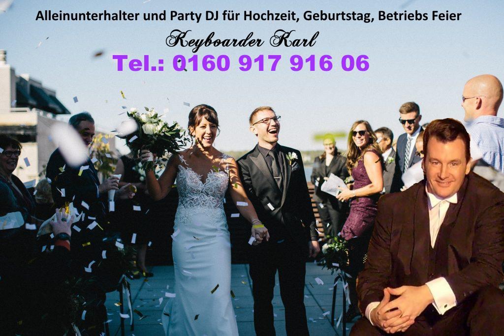 Hochzeits DJ Keyboarder Karl - ihr Hochzeits DJ